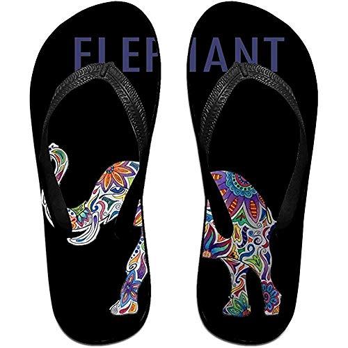 Zapatillas Chanclas Antideslizantes Unisex Color Brillante Elefante Zapatillas de Playa Frescas Sandalia