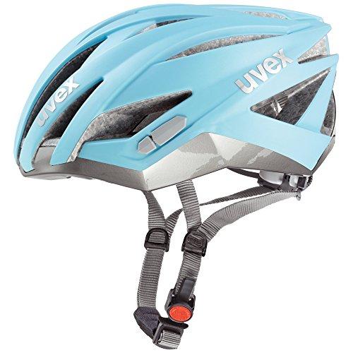 Uvex Ultrasonic Race - Casco de ciclismo para hombre, color azul claro / plata mate, talla 52-56 cm