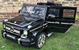 Epic Licensed Mercedes G63 AMG G Wagon 4 x 4 SUV - 12v Electric / Battery Ride on Car / Jeep Black