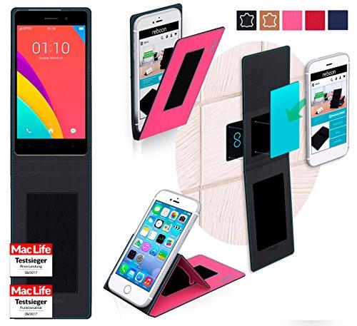 reboon Hülle für Oppo R5s Tasche Cover Case Bumper | Pink | Testsieger