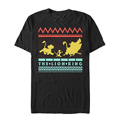 Lion King Men's Geometric Logo Black T-Shirt -