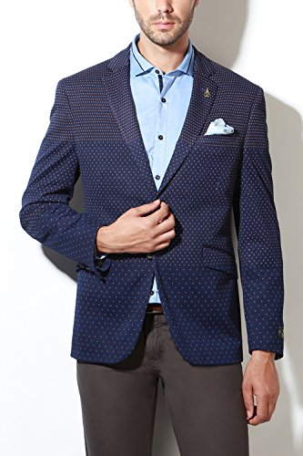 Van Heusen Men's Slim Fit Blazer (8907485861404_VHBZ316M06577_36_Black and Grey)  available at amazon for Rs.4798