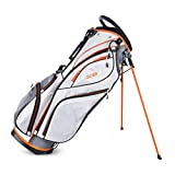 Sahara Gobi Golf Stand Bag, White/Gray/Orange