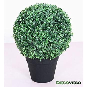 Buchsbaum Kugel Künstliche Pflanze Buxus Blumentopf Echtholz 35cm Decovego