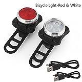 LED Fahrradbeleuchtung Fahrradlicht, Bloodfin StVZO Zugelassen USB Wiederaufladbare Fahrradleuchte Fahrradbeleuchtung Set, Fahrradlampe Fahrradlicht, Rücklicht, Aufladbare Fahrradlichter