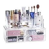 Choice Fun Abnehmbare Plexiglas Makeup Organizer Anzeige kosmetischer Speicher-Schmuck-Box 5 Schubladen mit 16 Compartments Top Abschnitt
