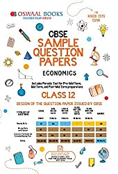 Oswaal CBSE Sample Question Papers Class 12 Economics (For March 2019 Exam)