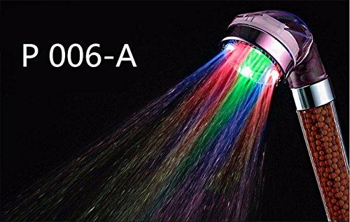 Anion Shower Spa - Duschkopf Druckwasser - Einsparung von Temperaturkontrolle Bunte große Regenbrause A - Speakman Duschkopf