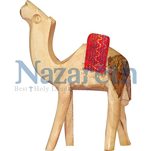 Hand Carved Jerusalem Camel Figure Hand Carved Gift From Holy Land Israel by Nazareth Market Store -