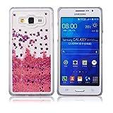 Voguecase® Para Samsung Galaxy Grand Prime SM-G530,Líquido Dinámico Arena Movediza Stars Funda Carcasa Duro Tapa Case Cover (pink+púrpura estrella) + Gratis aguja de la pantalla stylus universales