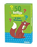 moses. 50 knifflige Knobeleien für kleine Rätselfreunde | Kinderbeschäftigung | Kartenset
