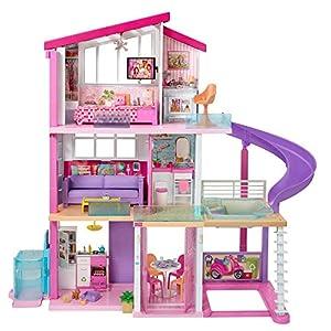 Barbie La Casa de Tus Sueños, con Elevador Nuevo, Casa de Muñecas con Accesorios (Mattel Gnh53)
