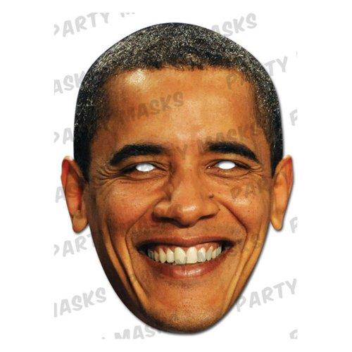 en aus Karton im 3er Pack mit Augenlöchern und Gummiband (Obama Maske)