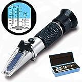 Tinkely Frostschutz Refraktometer, Handrefraktometer für Ethylenglykol, Propylenglykol, Gefrierpunkt von Kühlwasser, Scheibenwasser, Frostschutzmittel AdBlue Batteriesäure