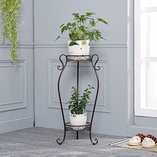 Pflanzenregale Metall 2-Tiered Plant Stand Dekorative Garten Terrasse Stehend Pflanze Blumen Rack...