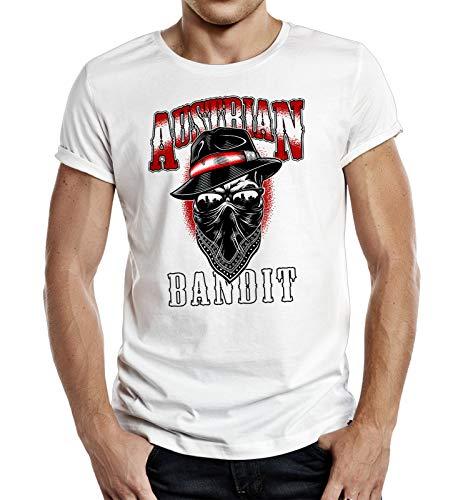 Herren T-Shirt - Österreich - Austrian Bandit - mehrere Farben (Weis, L)