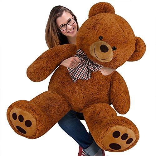 Kuschel Teddy XL Plus 100cm in Braun - Kuscheltier Stofftier Plüschbär Teddy