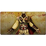 DRAGYI surdimensionné Internet Cafe Gaming Mouse Pad, Assassin's Creed Tapis de Table, doublé en Caoutchouc rembourré de Souris, 7, 40x90