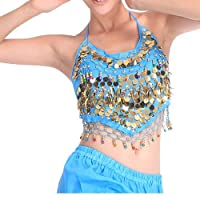 H:oter Belly Dancing Gold Sequined Bra Top With Pad, Belly Dancing Costume & Accessories, Price/Piece