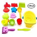 MAIKEHIGH Beach Sand Toy Models Set Incluye Cubo, Palas, rastrillos, moldes de Castillo, Bolsa de Malla con tirones, fácil de Limpiar para niños, niñas