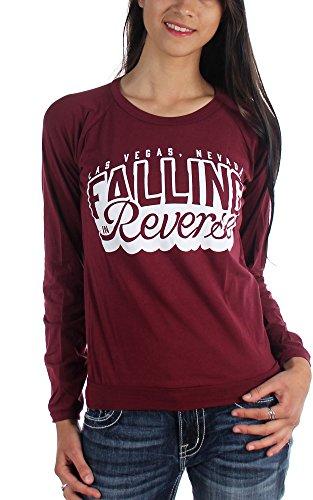 Falling In Reverse Chiavetta-Maglietta a maniche lunghe da donna Borgogna Small