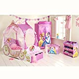 Disney Princess Carriage Toddler Bed with Storage + Foam Mattress