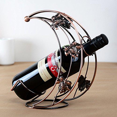 SMAQZ Weinregal aus Schmiedeeisen, europäisches kreatives Weinregal, Weinbecherhalter B
