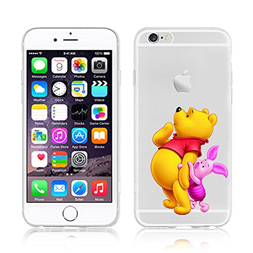 Disney Winnie The Pooh & Friends transparent TPU Soft Case für Apple iPhone 5/5S 6/6S & 6 + 6 + S, Plastik, Winnie & Pig, Apple iPhone 6/6s