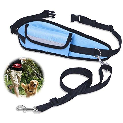 hundeleine-jogging-petbaba-64-120cm-lang-hande-frei-reflektierend-nylon-training-hunde-leine-mit-tas