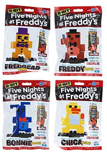 Five Nights at Freddy's 8-Bit Figures: Plush Bonnie, Freddy, Chica, Fredbear