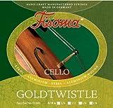 FISOMA Goldtwistle Saiten für Cello 4/4 Satz -- die robuste Schülersaite, stimmstabil mit leichter Ansprache - Made in Germany