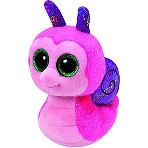 peluches TY - Beanie Boos Scooter, caracol, 15 cm, color rosa (United Labels Ibérica 37199TY)