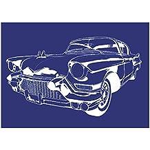 Rayher 4501500 - Plantilla de estarcido (lámina DIN A4, incluye raspador), diseño de coche