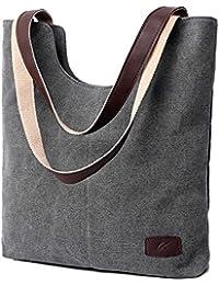198ab0ab6c6ef Zhen+zhen Canvas Damen Bag Schultertaschen Function Bag Crossbody Bag Tote Handtaschen  Shopper Tasche Schultertasche für Schule…