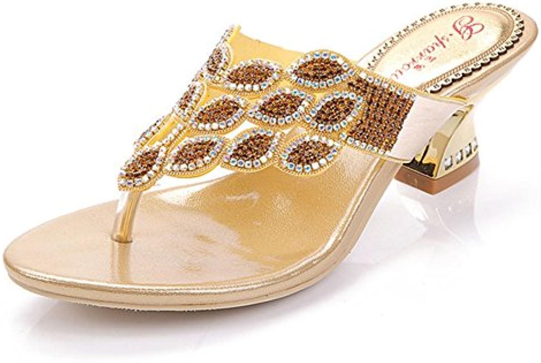 SASA Infradito Estivi Strass Toe Thick con sandali con con con ciabatte Sandali alla moda Diamanti estivi femminili Pizzico...   comfort  5fe908
