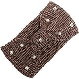 DEESEE(TM) Women Knitting Headband Handmade Keep Warm Hairband Hair Accessories (Khaki)