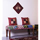 "Theshopy Wooden Bench With Upholstery Folding Size:-48""X16""X18"" #A442"