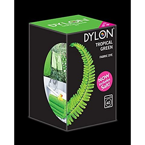 Dylon Tropical verde máquina Dye 350g Incluye Sal