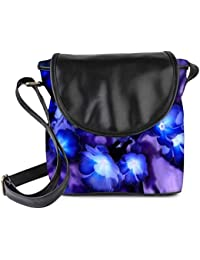 Snoogg Glowing Flowers Inspired 2634 Womens Sling Bag Small Size Tote Bag