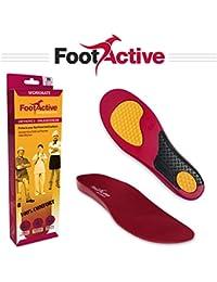 FootActive WORKMATE - Confortables semelles de soutien de la voûte plantaire pour amortir et protéger les pieds