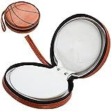 TRIXES Funda en Forma Baloncesto Naranja con 24 Folios para Llevar Discos CD/DVD/Blu-Ray/Discos de Vídeo Juegos