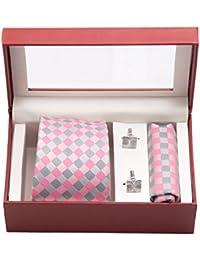 Vibhavari Men's Tie, Pocket Square & Cufflinks - Set