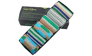 RioRiva | Men Socks Wide Mid Calf Tube | Designer Mens Business Socks | Colorful Funny Funky Fun Style