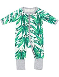 bba3f3fc7 Puseky Baby Boy Girl Funny Printing Long Sleeve Zipper Romper Jumpsuit  Bodysuit