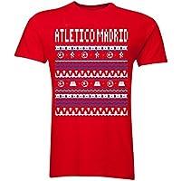 UKSoccershop Atletico Madrid Christmas T-Shirt (Red)
