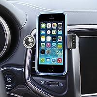 Color Dreams® Soporte móvil coche rejilla de aire. Soporte coche rejilla ventilación móvil universal, extensible para todo tipo de teléfonos móviles como Iphone SE 6S 6S plus 6 6 plus 5 5S 5C 4 4S , Samsung Galaxy S7 / S6 / S5 / S4 / Note 4/3 , Sony, BQ, Motorola, Google Nexus, LG G3 y muchos otros teléfonos o dispositivos GPS (Negro)