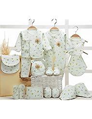 SHISHANG Caja de regalo del bebé 100% algodón puro recién nacido Set bebé ropa SupPlies maternidad nuevo otoño invierno espesamiento 0 ~ 1 años de edad Caja de regalo , 17 , A