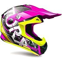 TORX casco Moto Marvin Eyes, Rosa, talla L