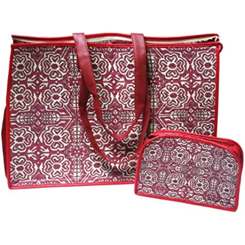 Artecobags Special Foldable Insulated Xl Tote with Organizer Set Burgundy by Artecobags - Multi Purpose Insulated Tote