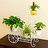 flores estantería Estantes para plantas escalera metálica macetas flores estantería, flores estantería ,estantería de soporte para plantas ( Color : 1 , Tamaño : 70*23*66cm )